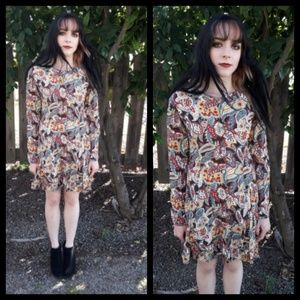 Vintage 80's Esprit paisley button front dress!
